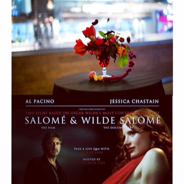 First florals for film premiere @BFI Salome. Fin! For my friends at we_are_heart
