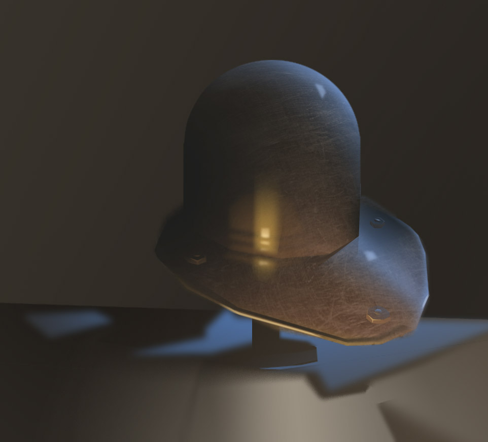 Still life of Helm. CDA 2012. First time painting with only Lasso tool using trackpad.