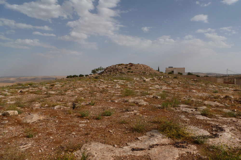 Rujm Ataruz, an Iron II Fortress Site 4 km East of Khirbat Ataruz (Photo by C. Ji)