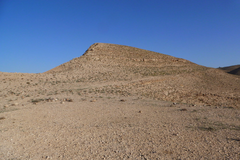 Boz al-Mushelle (Farsh al-Mesala) and the Ancient Road to Khirbat Ataruz (Photo by C. Ji)