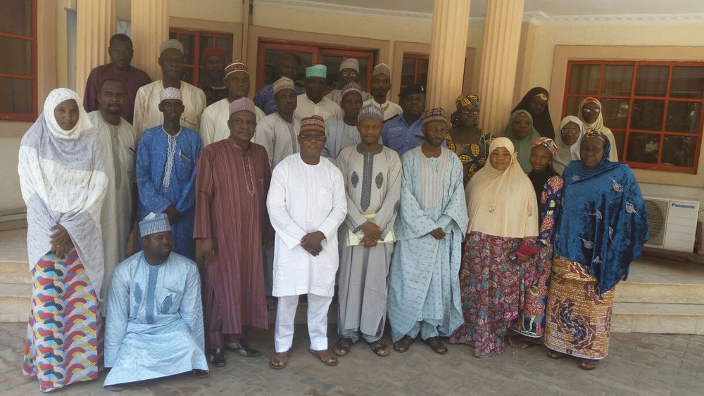 Participants and IMC officials in a group photograph after the Restructuring meeting in Sokoto.
