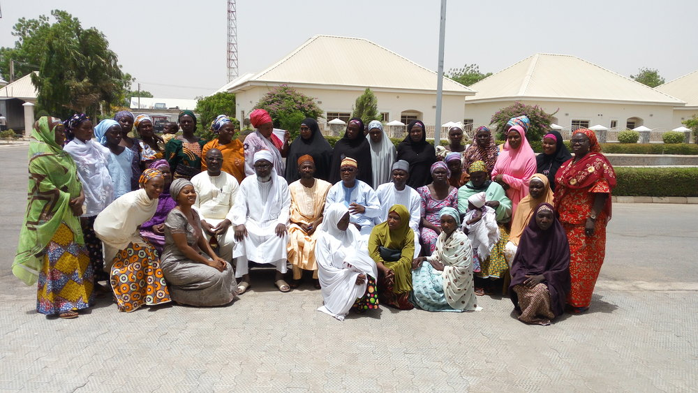 Participants, Imam, Pastor, other IMC staff and facilitators in a group photograph after the meeting in Maiduguri