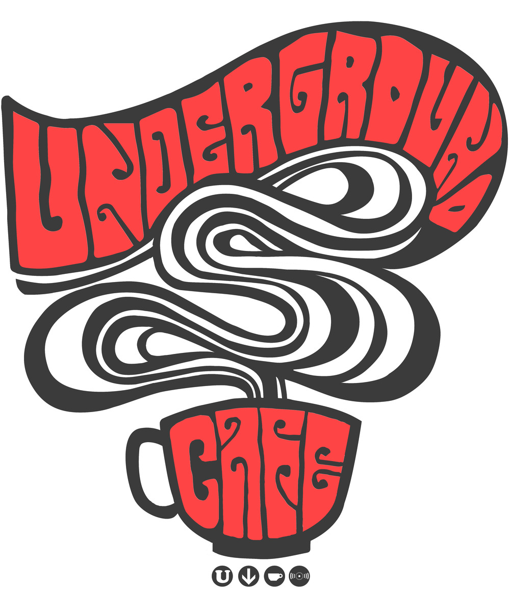 Shirt design for The Underground Cafe. 2014