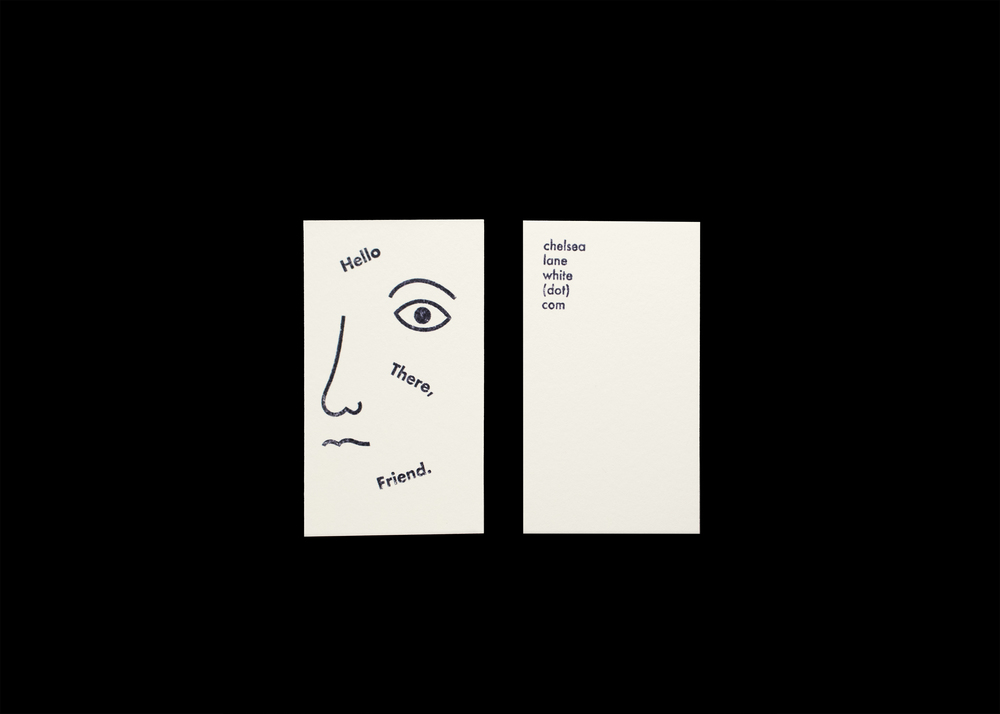 Business Card — Chelsea Lane White