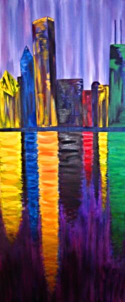 oil painting. 'vibrant chicago' – keRi massa
