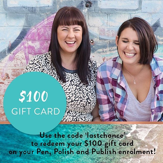 THE BIG DAY 💙 the time has come to close the doors to Pen, Polish and Publish forever. But we're going out with a bang! ✨A $100 gift card ✨ that's more than 50% off! If you've ever dreamt about writing, editing, designing and launching your own PDF eBook, join us! Link in profile.  @katiemaysmyth and I would love to see you inside! Xo    @raspberrymagazine
