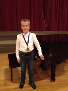 Alec Hammond, Gold Medal in Junior B Piano at BC Provincial Music Festival, Powell River