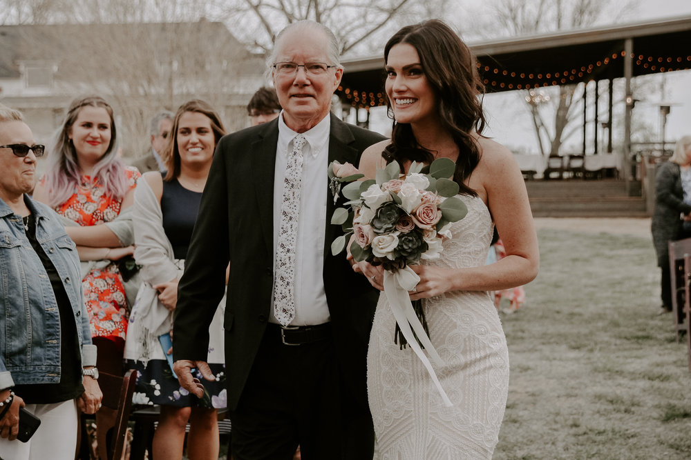 Father of the Bride, Walk Down the Aisle, Rustic, Outdoor Venue
