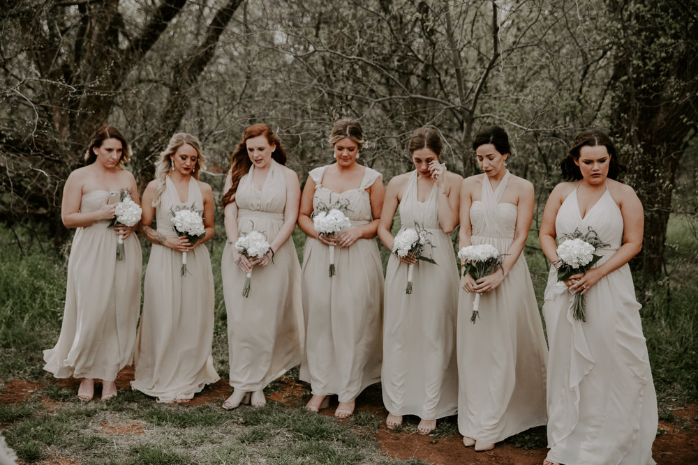 Bridesmaids, Bridesmaid Dresses, Outdoor Venue, Neutrals, Jenny Yoo