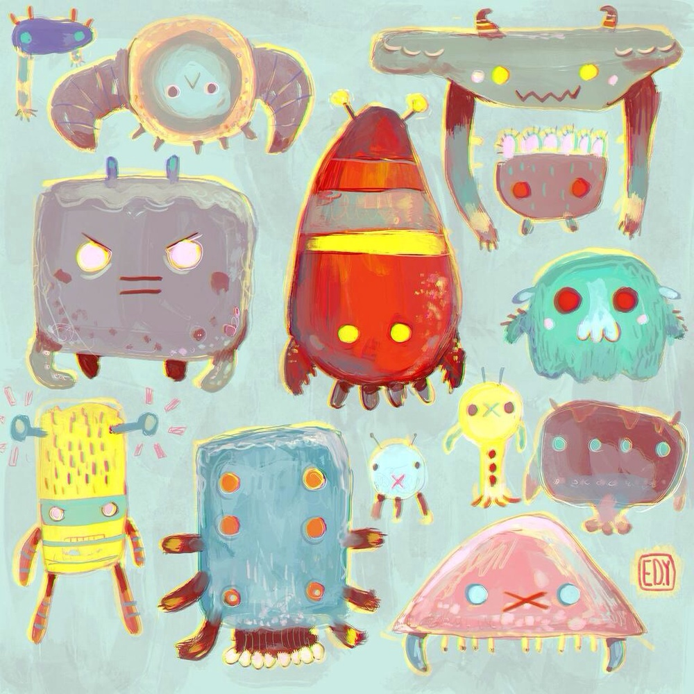 Space Invaders :  sketchdailies
