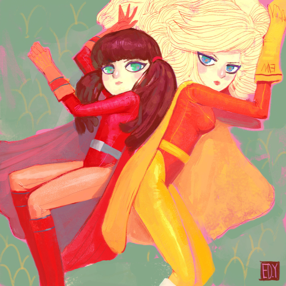 Electric Woman & Dyna Girl :  SketchDailies