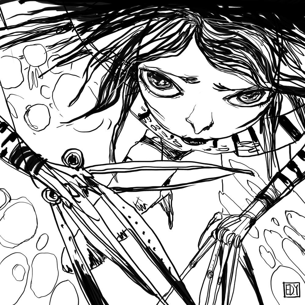 Edward Scissor Hands : SketchDailies