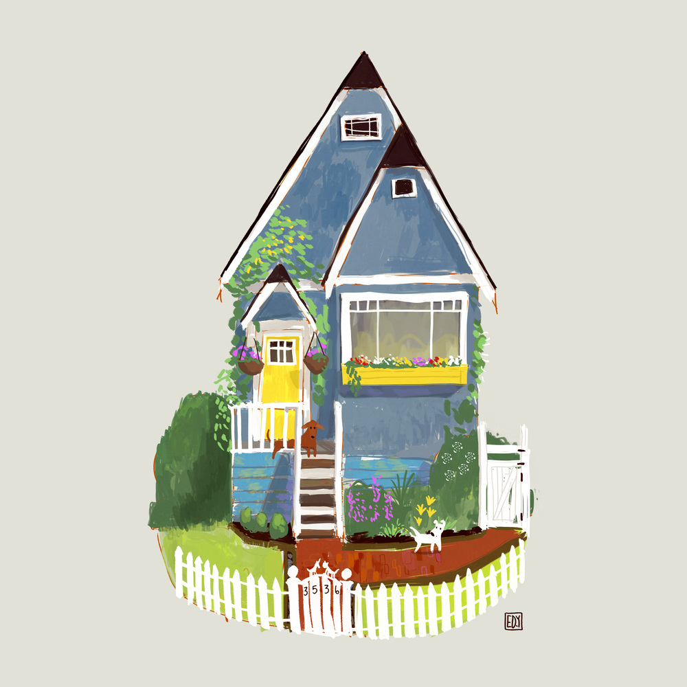 a quick sketch for how we would do the outside of the house... :) one of the many ideas for the frontage... more to follow.