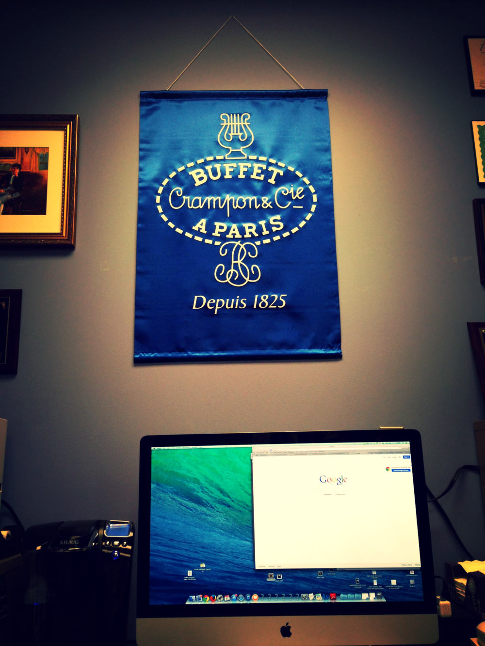 A fancy Buffet banner now hangs on my office wall
