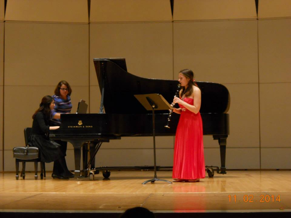 Sarah playing her Junior Recital at TTU