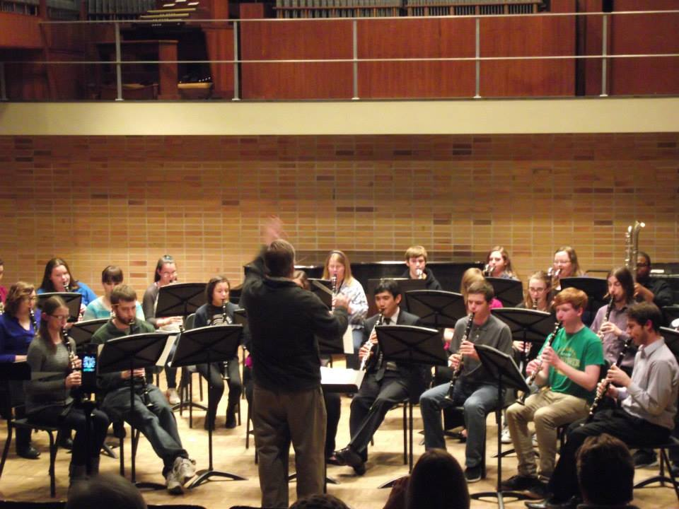 Playing with UE Clarinet Choir!