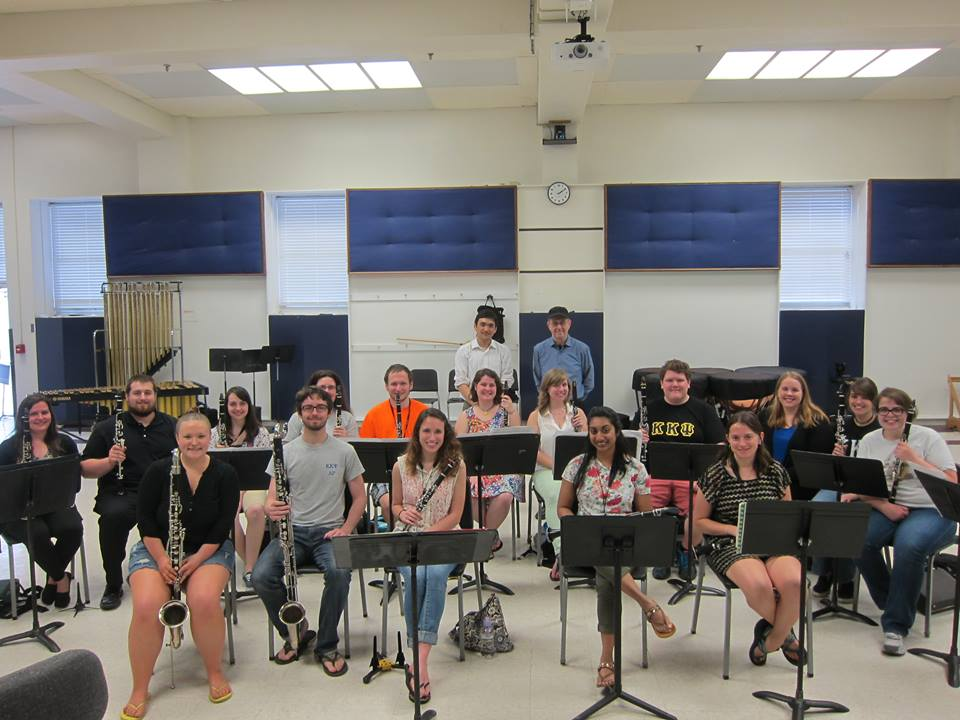 TTU Clarinet Studio (Spring 2015) working with the Pulitzer Prize winning composer Steve Reich - New York Counterpoint