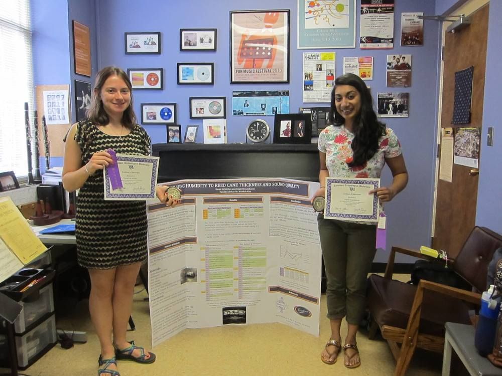 My students Sarah and Anjali won the College of Education Award at the 2015 TTU Research Day Competition