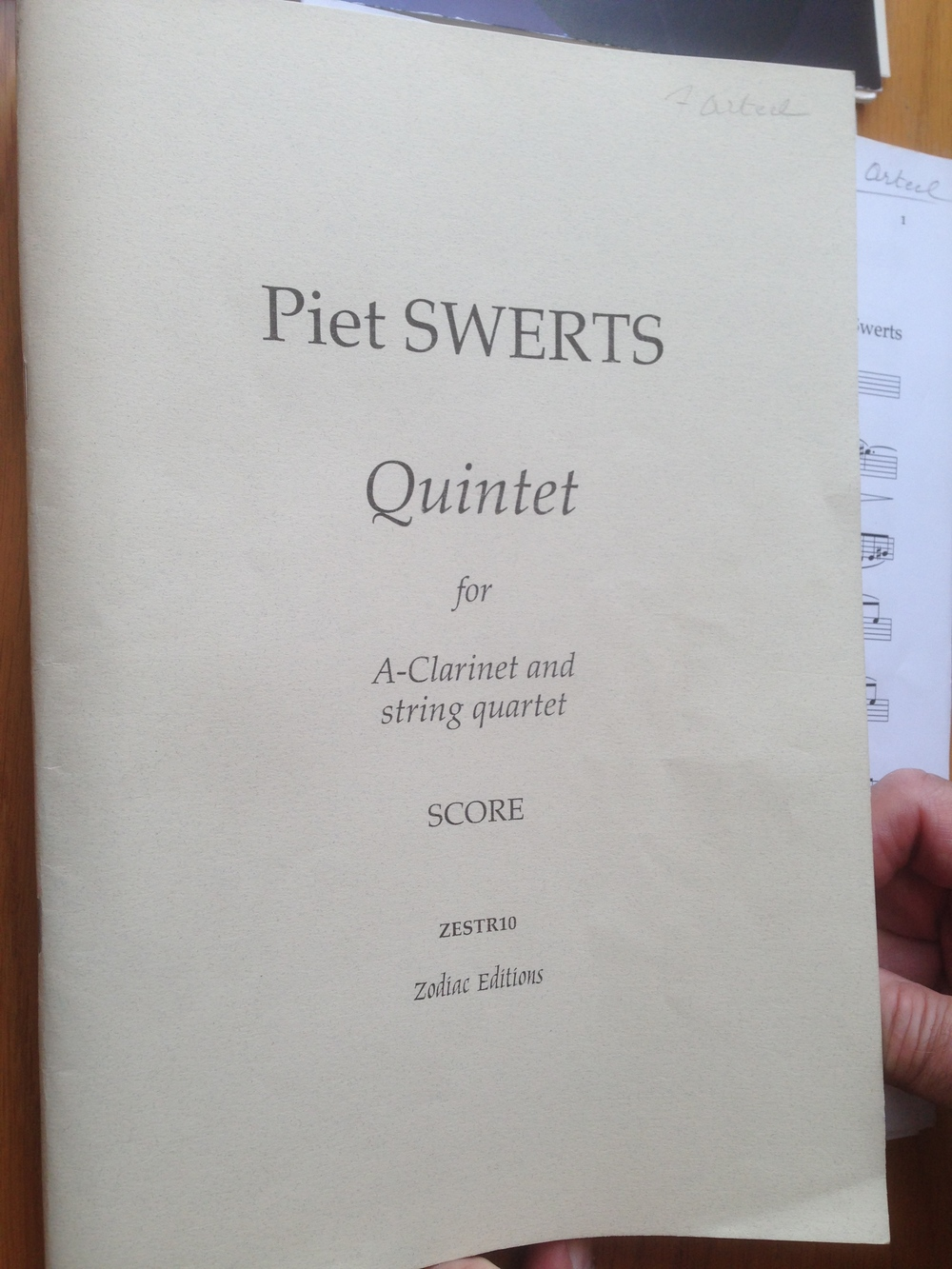 Each year, I discover several hidden gems in our repertoire. This year, my dear friend and mentor Freddy Arteel, brought this marvelous work by the Flemish composer Piet Swerts.