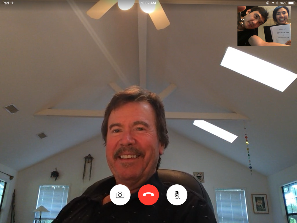 "On our recent Facetime ""rehearsal"" with Peter Lieuwen"