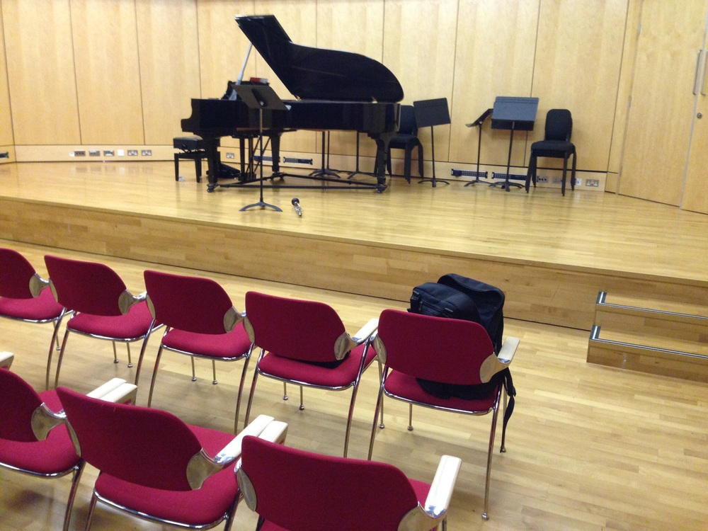 rehearsing at the City College of London