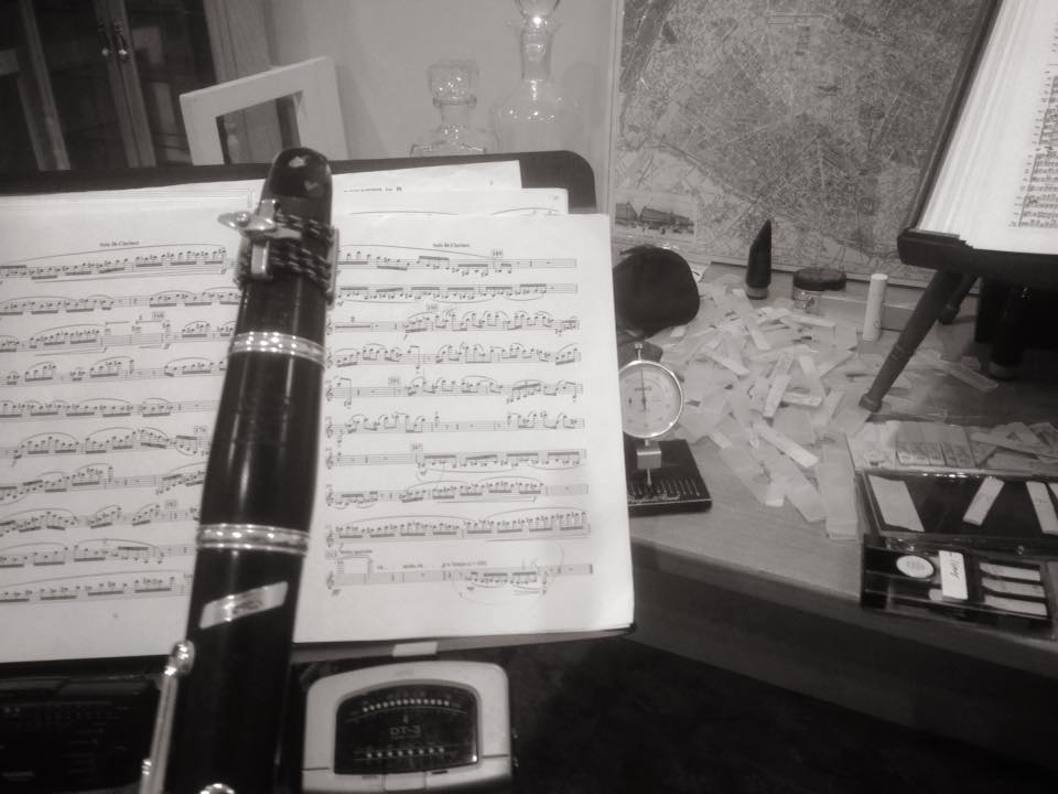 Ticheli's Clarinet Concerto was among many other challenging scores that have occupied my stand for the past few weeks.