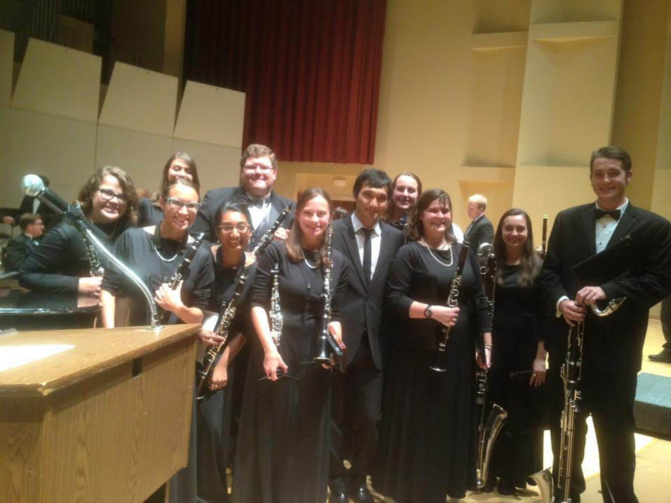 With TTU Wind Ensemble clarinet section