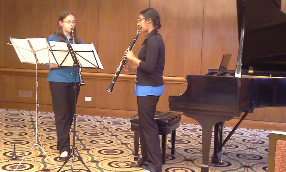 Sarah and Anjali performing in at NCHC National Conference in Chicago