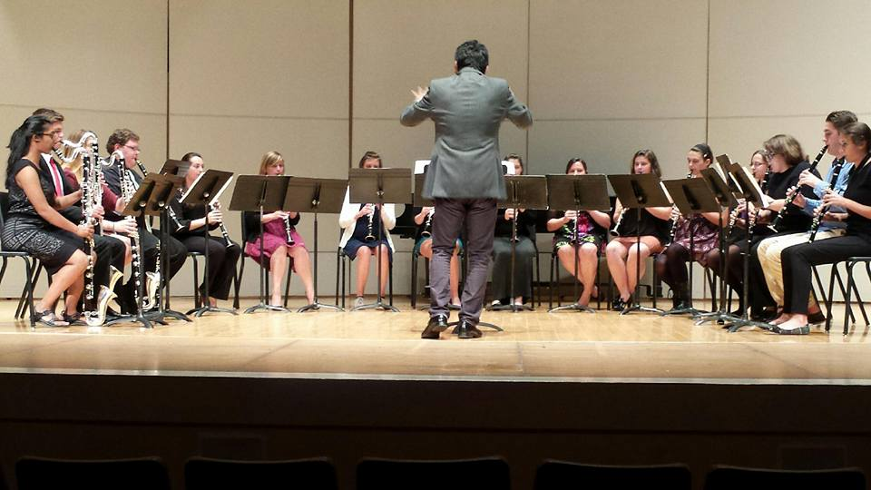 TTU Clarinet Ensemble performing a Mozart Overture at the 2015 Fall Recital