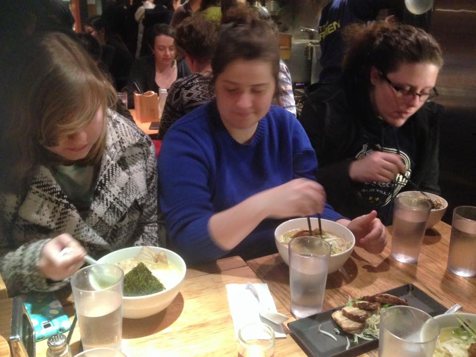 Trying out some Ramen and having problems with chopsticks