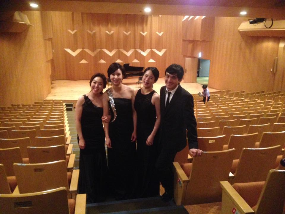 Post Recital Picture with Mirus Trio