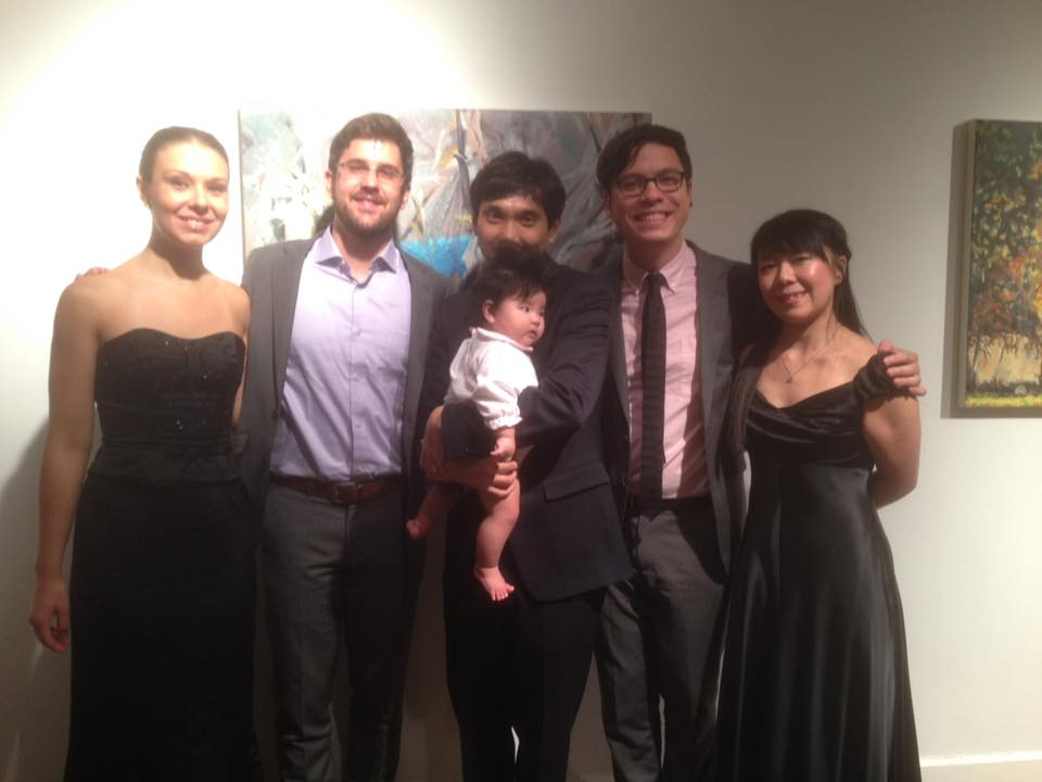 Post Concert Picture with Attacca Quartet and Tayeon!