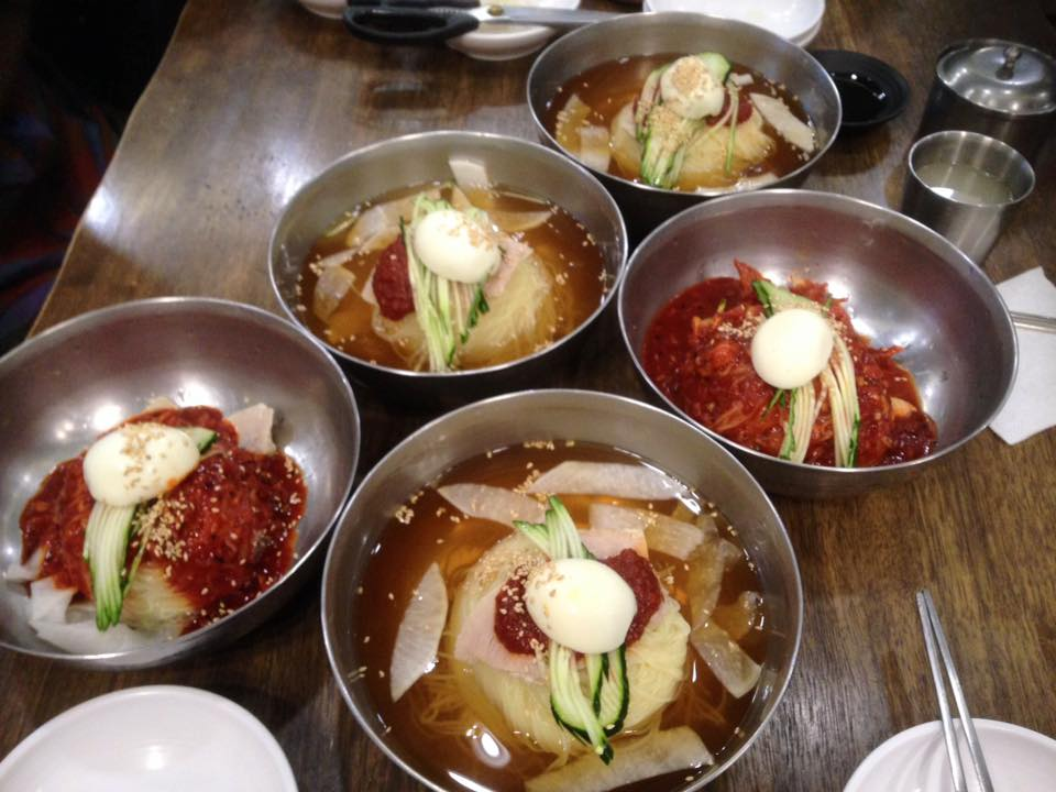 Mil-myun (flour noodles served cold)