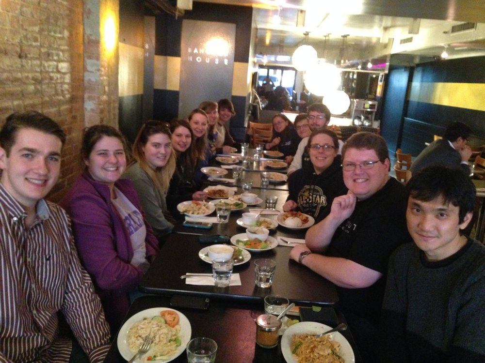 TTU Clarinet Studio's last minute lunch together in NYC before heading back to La Guardia