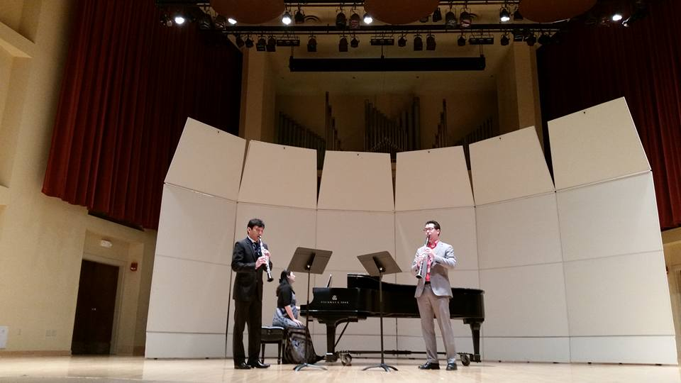 "World Premiere performance of Jeff Brooks's ""Life's A Celebration"" by Wonkak Kim and Jeff Brooks, clarinets with Grace Choi, piano"
