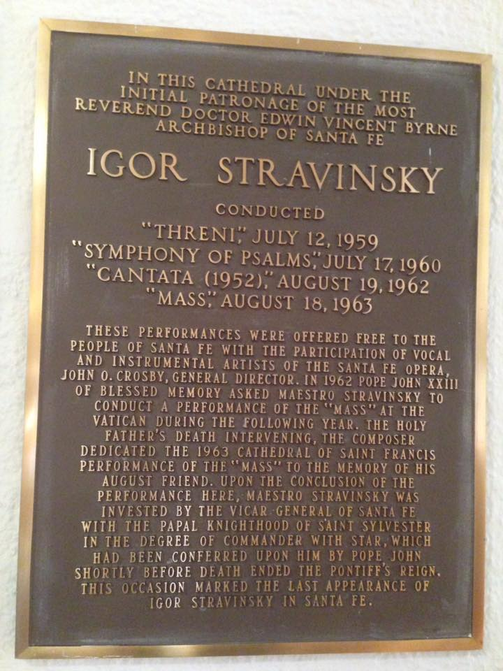 What a surprise to find this plaque at Cathedral Basilica of St. Francis of Assisi