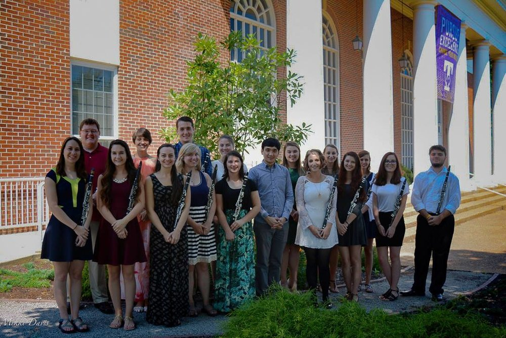 TTU Clarinet Studio 2016-17 (sadly with some missing members who are student teaching...)