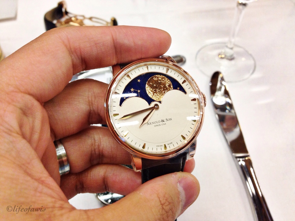 Arnold & Son Moonphase in rose gold.