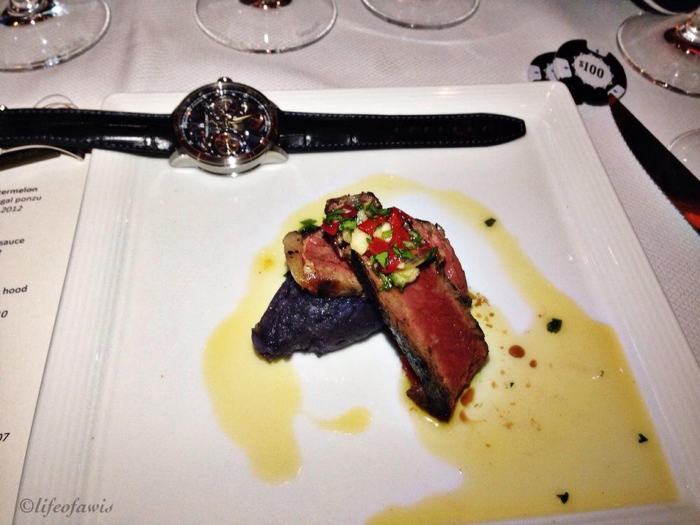 Masterpiece Squelette and rare steak.