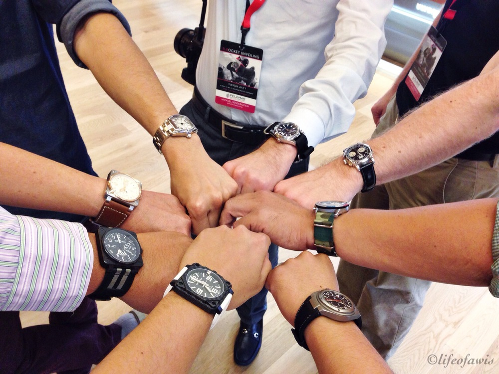 Group wrist shot with the #LAWatchGang and Stacie Orloff.