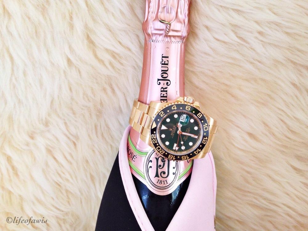 Rolex meets Perrier-Jouet.
