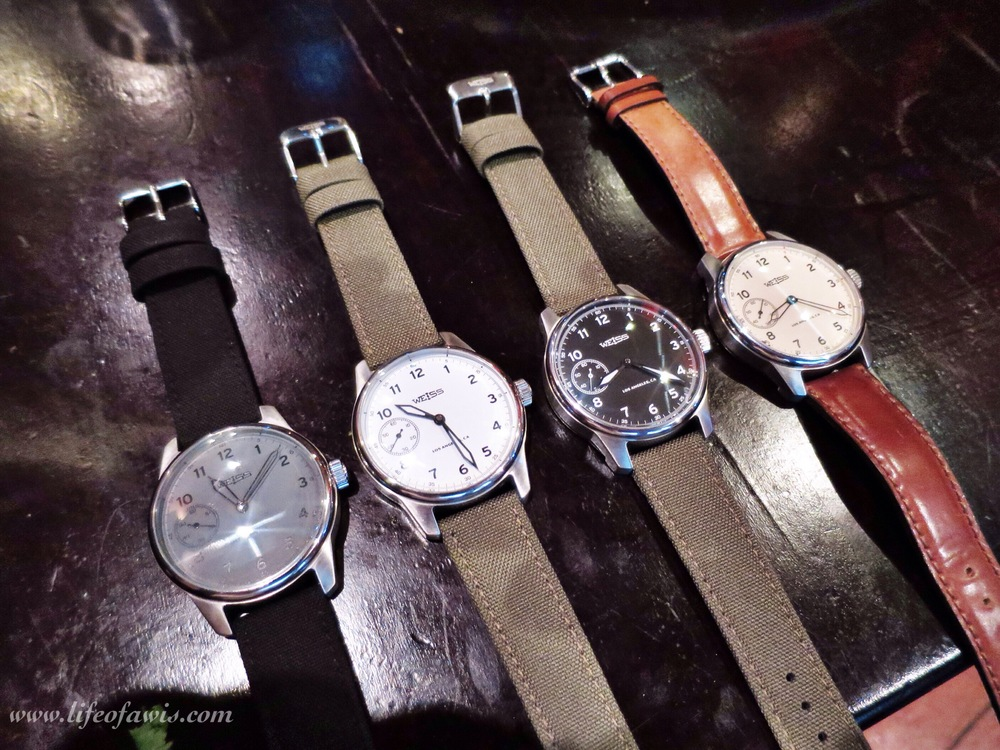 All versions of Weiss Watch Company's Field Watch.
