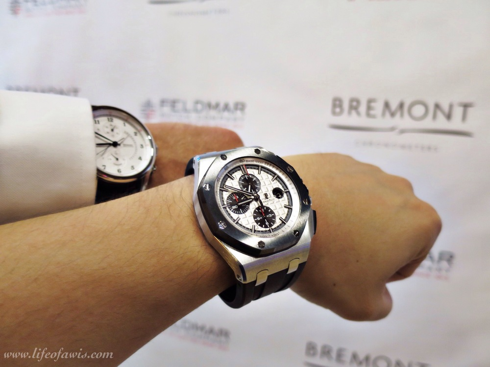 Do not own a Bremont at the moment so my AP ROO was on duty.  Mike Pearson photobombing ;-).