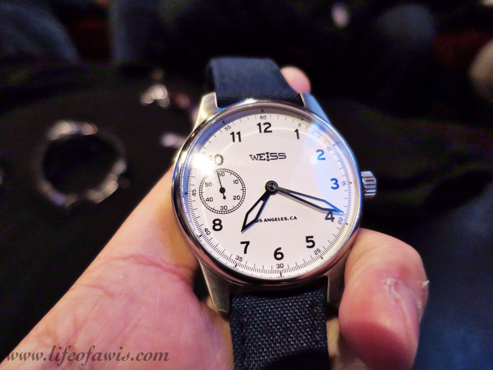 Weiss Standard Issue Field with white dial.