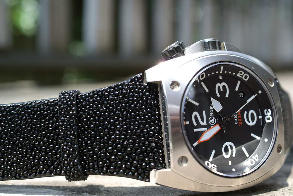 BR 02 on a stingray strap.
