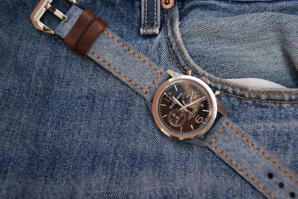 Jeans canvas strap.