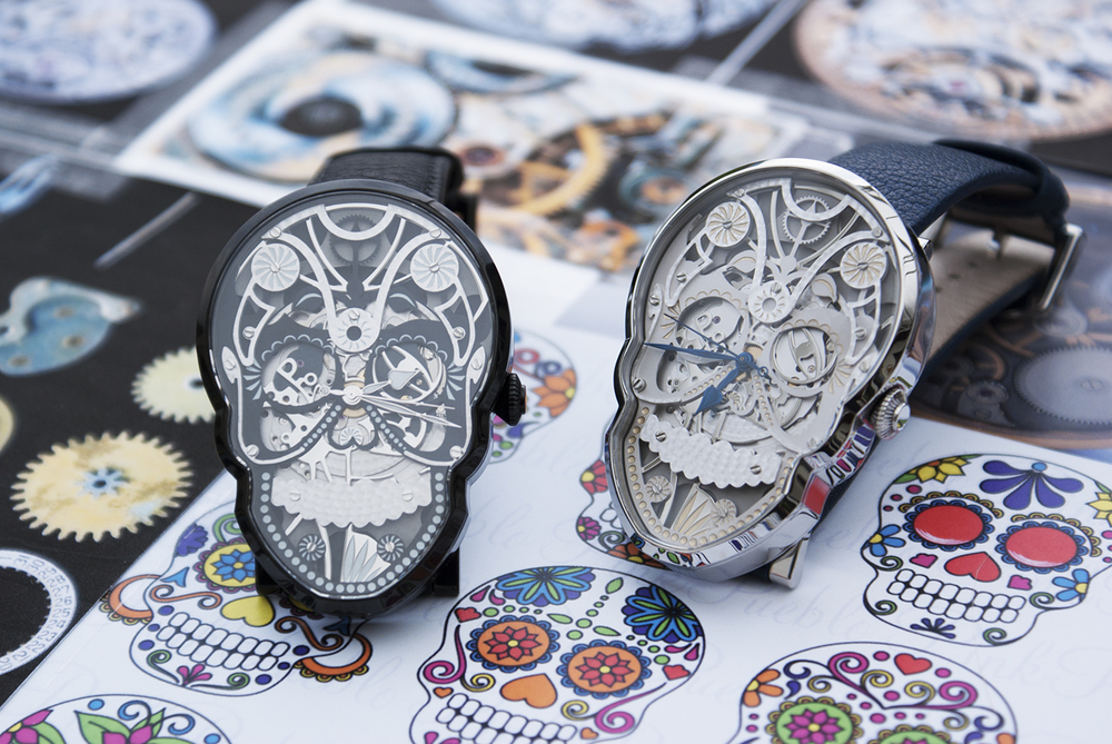 "The Skull and Black Skull watches are in part inspired by the ""Dia de los Muertos"" celebration in Mexico."