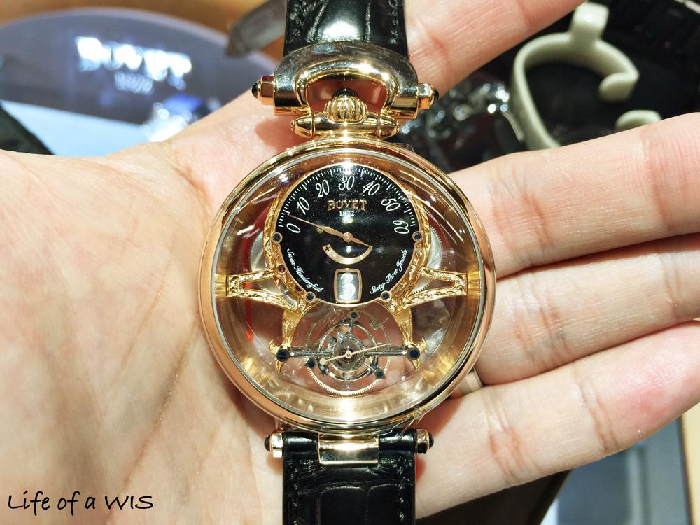 The handcrafted $270,000 Bovet Fleurier gold tourbillon.