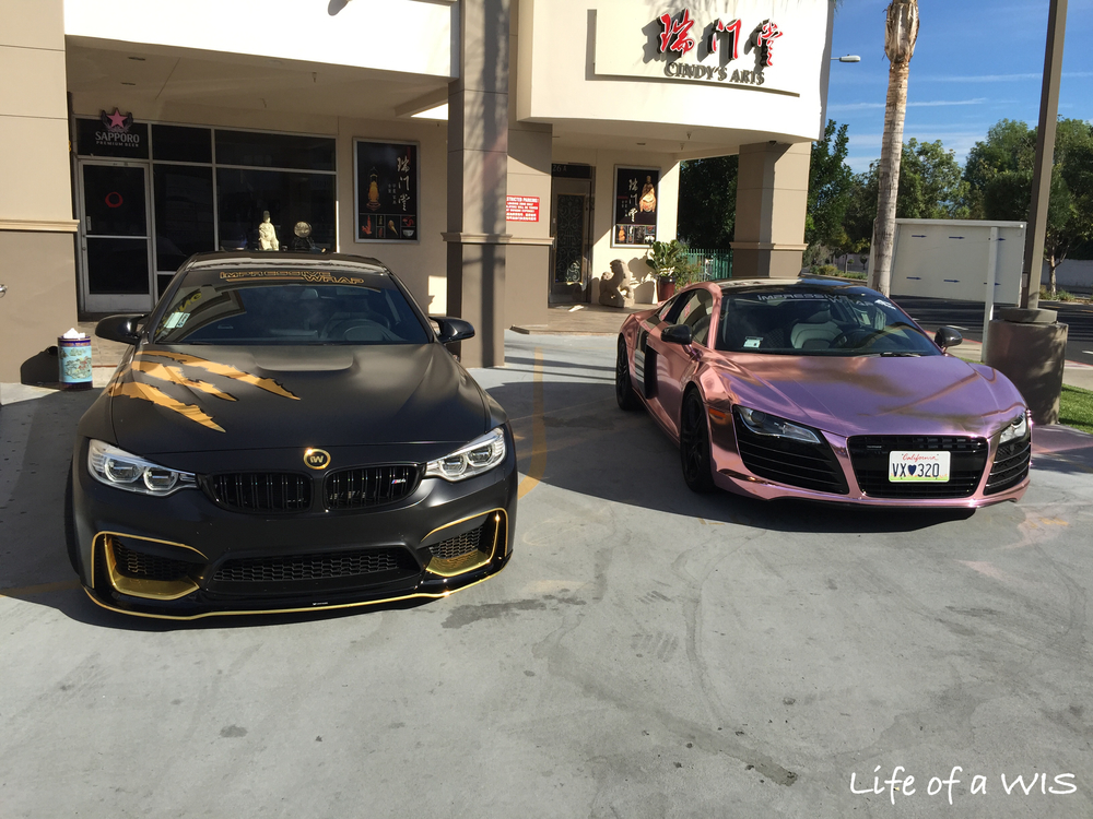 BMW M4 and Audi R8.