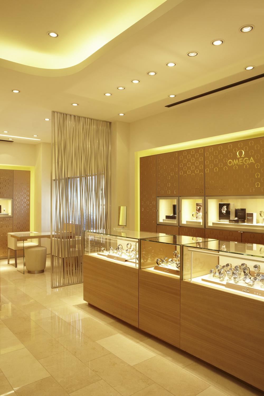 Omega mini boutique inside.